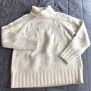 Michael Kors Cream Alpaca Blend Knit Sweater Sz M